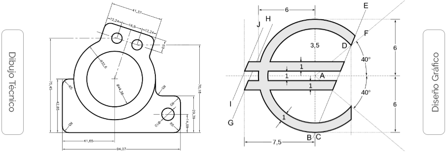 Dibujo técnico Vs Diseño gráfico