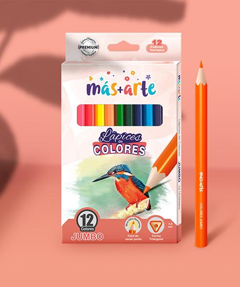 Packaging Lápices de Colores Más+Arte