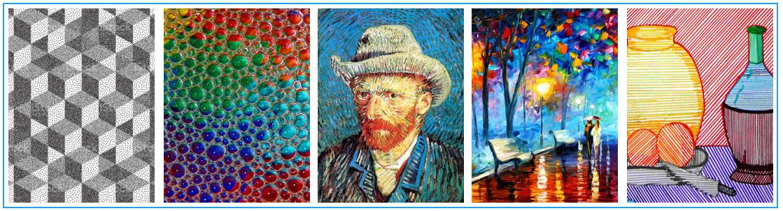 La textura en la composición artística