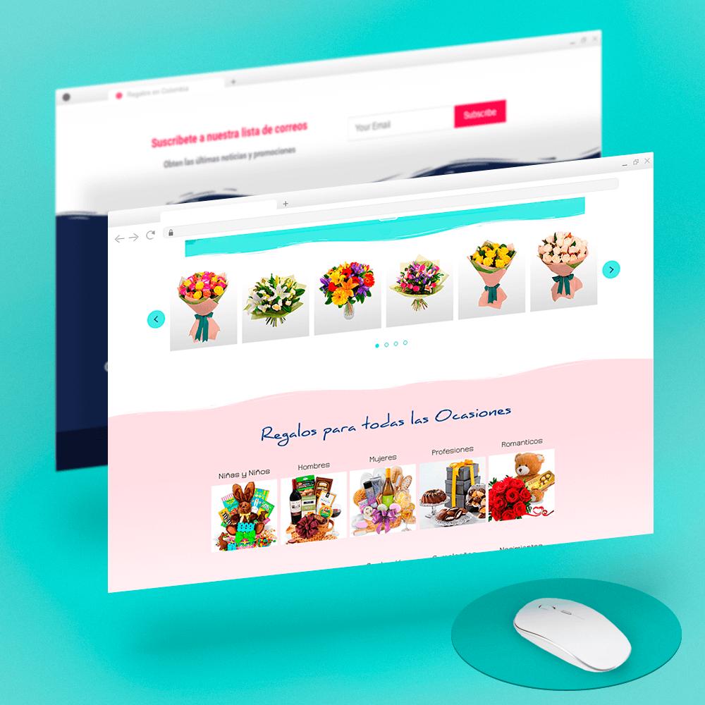 Diseño de Página Web - Template - FelizDia Colombia