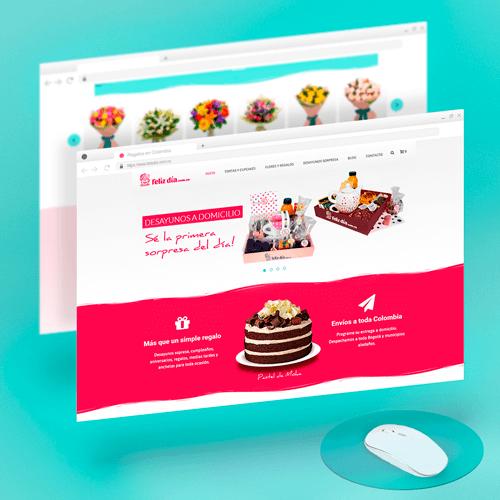 Diseño de página Web - Template - FelízDia Colombia