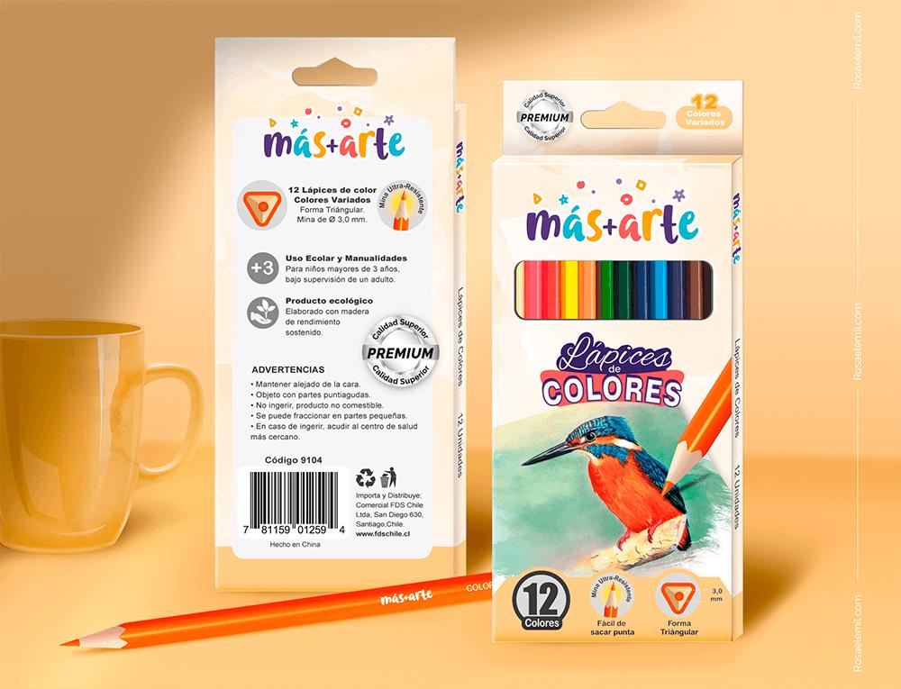 Diseño de Empaques para lápices