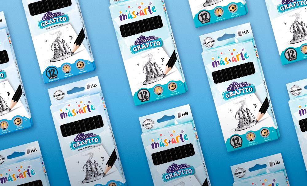 Portfolio - Empaques para lápices de Grafito - Más+Arte