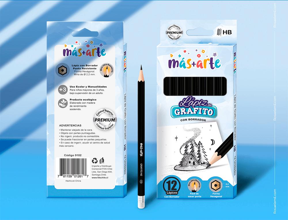 Empaques para lápices de Grafito - Más+Arte