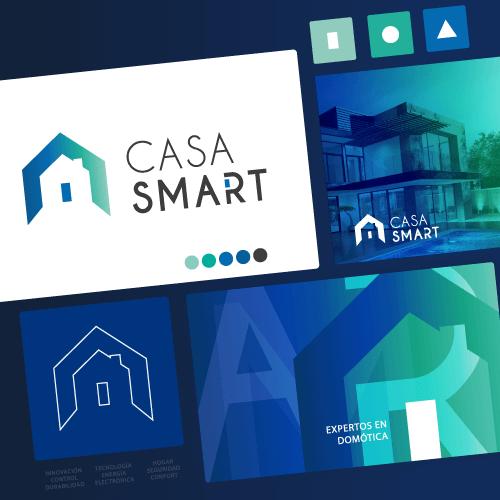 Diseño de identidad corporativa - Casa Smart Chile