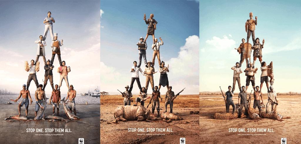 Campaña publicitaria WWF Stop one 2020- Gestalt