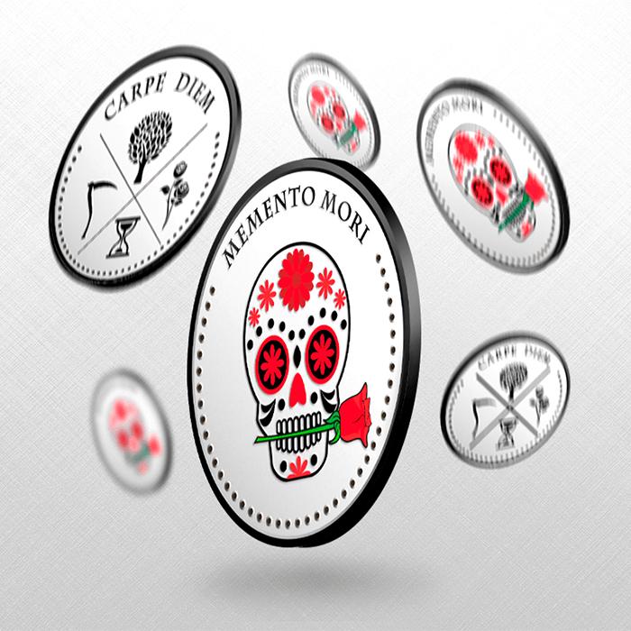 Moneda ilustración - Memento Mori - Carpe Diem