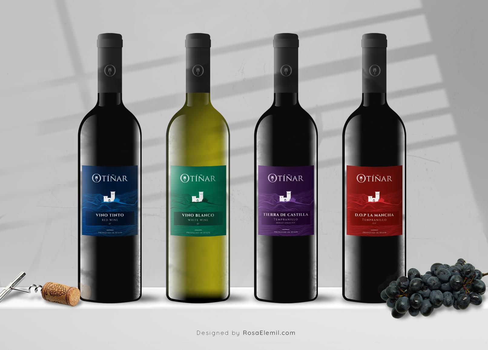 Otiñar - Wine Label